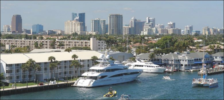 Fort Lauderdale Harbor Skyline