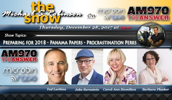 The Michael S. Robinson Show: 2017.12.28